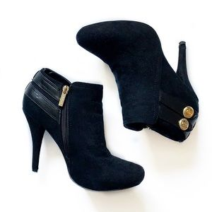 Guess • Faux Suede Heeled Booties